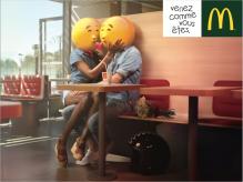 Mc. Donalds Venez Comme vous êtes Emoticons couple